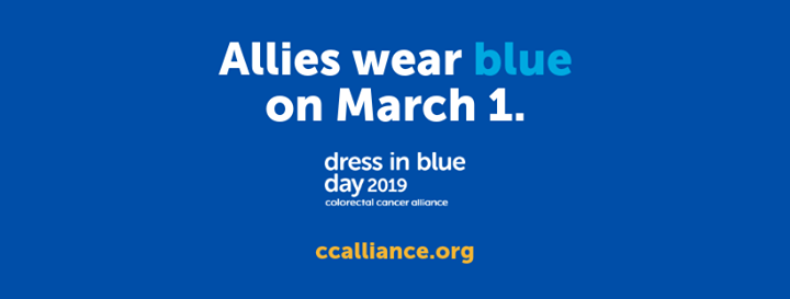 Dress In Blue Day 2019 At Colorectal Cancer Alliance Columbia