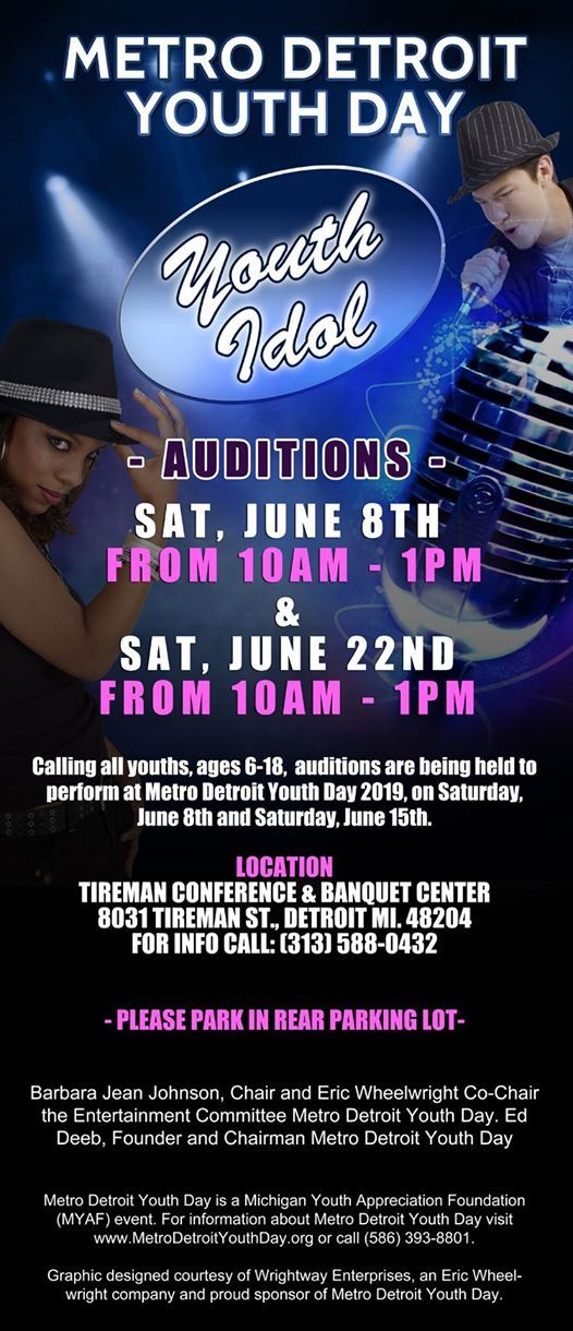 YOUTH IDOL Auditions at 8031 Tireman St, Detroit, MI 48204-3469