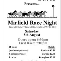 Lets Save HRI Night At The Races - Save The Date
