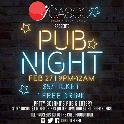 CASCO Presents PUB NIGHT