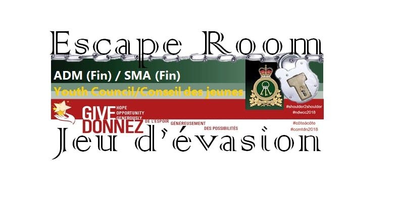 ADM(Fin)Youth Council Escape Room