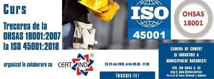 Curs Trecerea de la OHSAS 180012007 la ISO 450012018