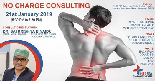 No Charge on Back Pain Consultation Program