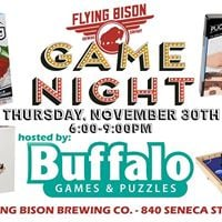 Flying Bison Game Night hosted by Buffalo Games