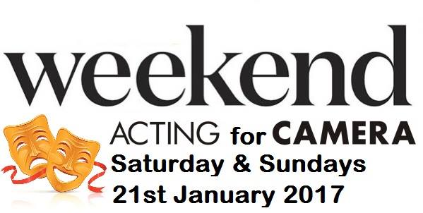 Weekend Acting For Camera Course (12 Weekends) Saturday & Sunday