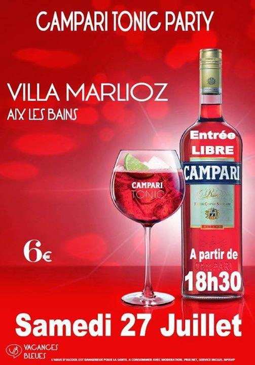 Campari Tonic Party  la Villa Marlioz