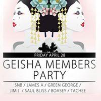 Geisha Members Party