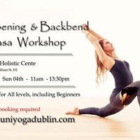 Hip Opening &amp Backbend Vinyasa Workshop