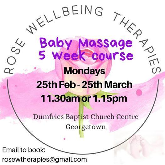 Baby Massage 5 week Course (Mondays at 1.15pm)