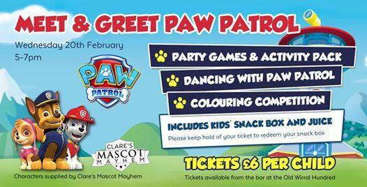 Meet & Greet Paw Patrol