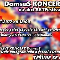 DomsuS koncert na akci ART Festival 2017