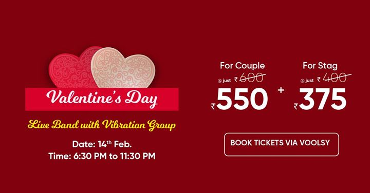 Valentines Day Celebration at discounted rate with Voolsy