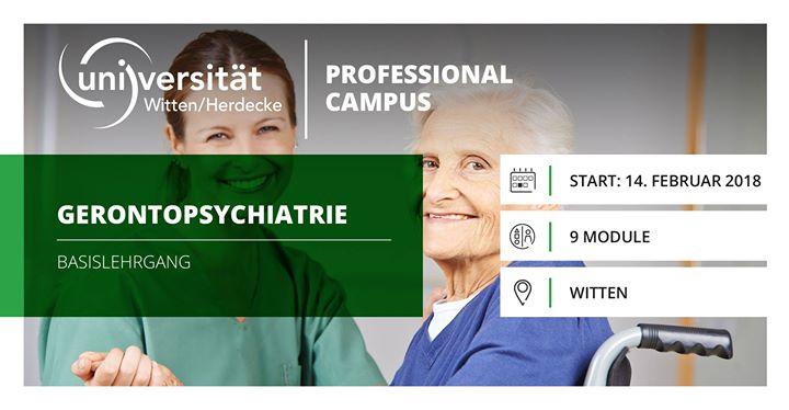 Gerontopsychiatrie Basislehrgang Start Feb. 2018