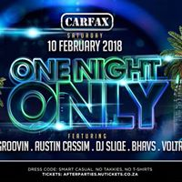 One Night Only - Sat 10th February - Carfax