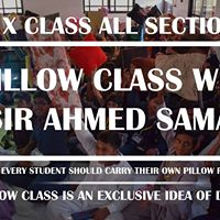 Pillow Class With Sir Ahmed Samad (X - All Section)