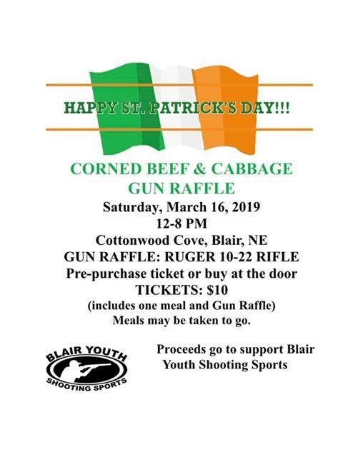 Corn Beef Cabbage & Gun Raffle at The Cottonwood Cove Marina