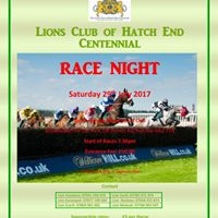 Charity Race Night Hosted By Lions Club of Hatch End Centennial
