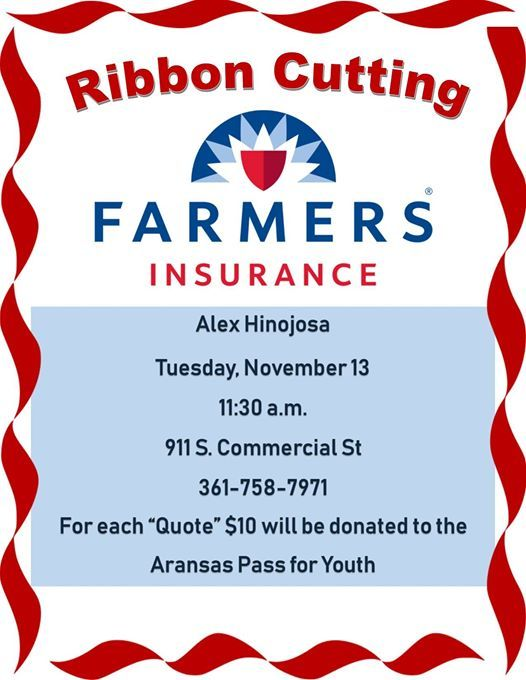 New Beginnings Ribbon Cutting Farmers Insurance At 911 S Commercial