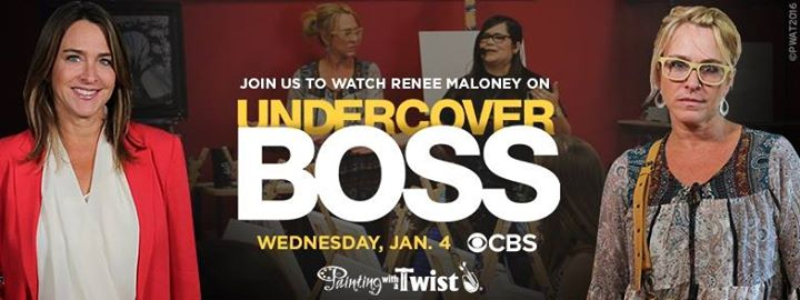 Undercover boss viewing party open to public at painting for Painting with a twist alamo ranch