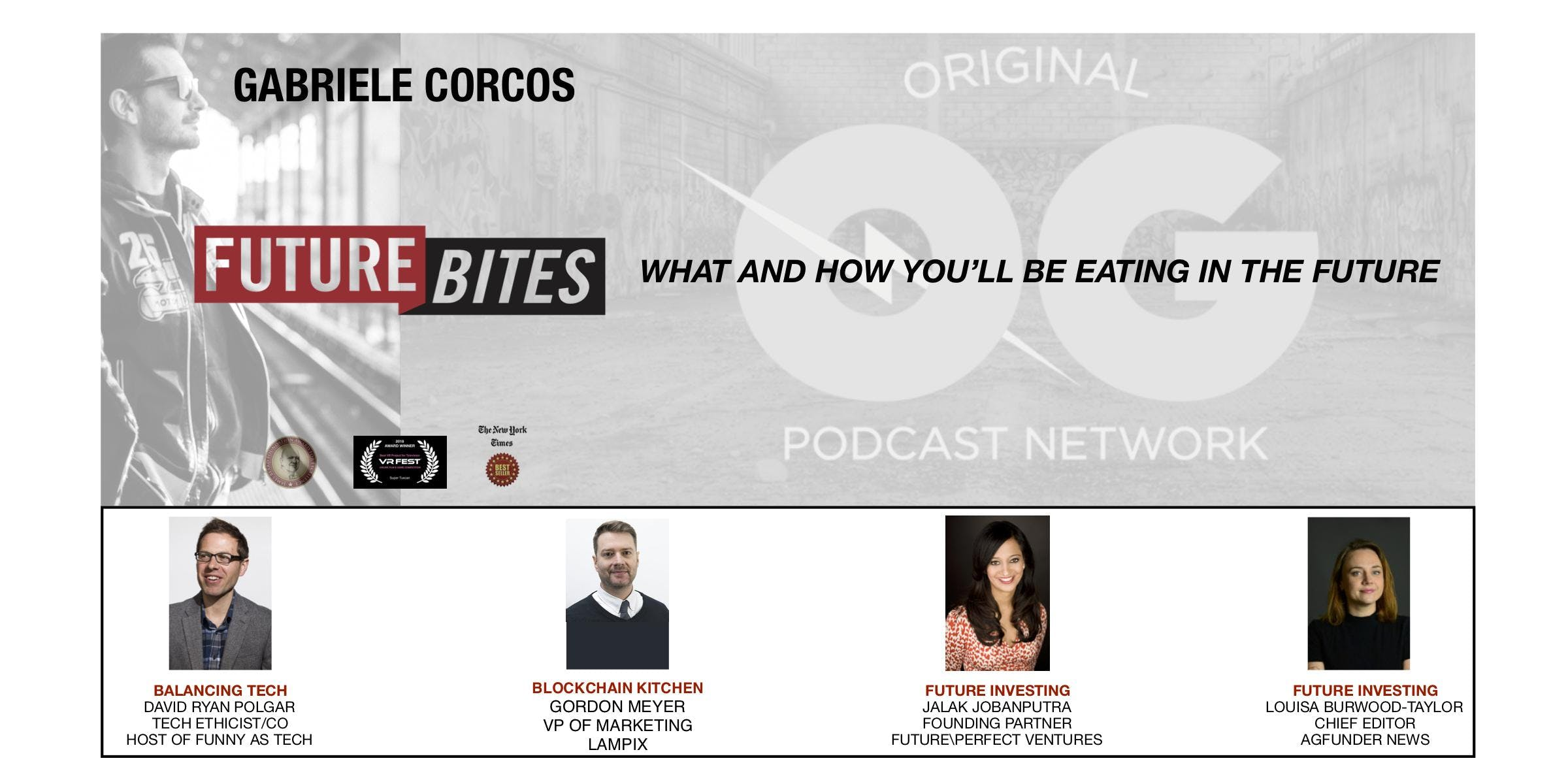 Future Bites How and What you will eat in the future With Gabriele Corcos