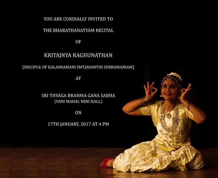 Dance Recital of Kritajnya Raghunathan