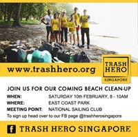 14th Trash Hero Singapore Beach Clean - East Coast Park