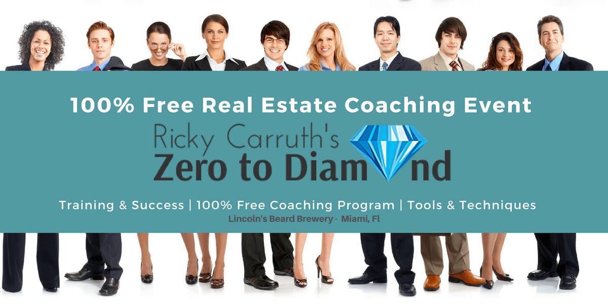FREE  Ricky Carruth Zero To Diamond Real Estate Coaching Event