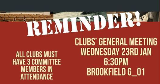 General Meeting - All Clubs