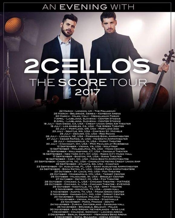 2cellos - The Score Tour at Greek Theatre, Los Angeles
