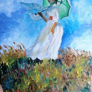 ArtNight ArtNight Pro Paint like Monet - Woman with Parasol am