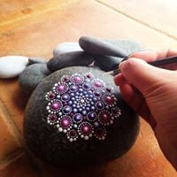 Workshop Mandala Dot Art on Sea Stones (6 SEATS LEFT)
