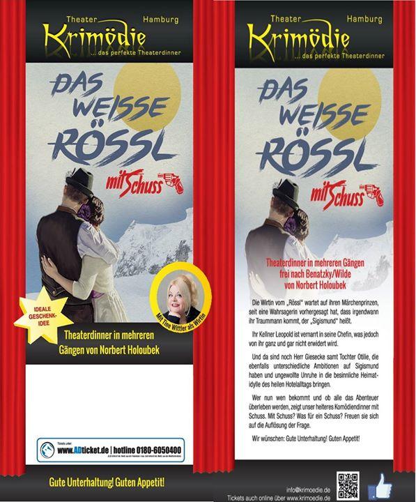 Krimödie Hamburg Das weisse Rössl mit Schuss Theater mit Menü at ...