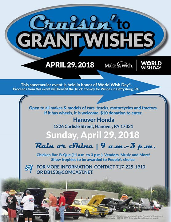 World Wish Day Celebration And Car Show At Hanover Honda Hanover - Car show hanover pa