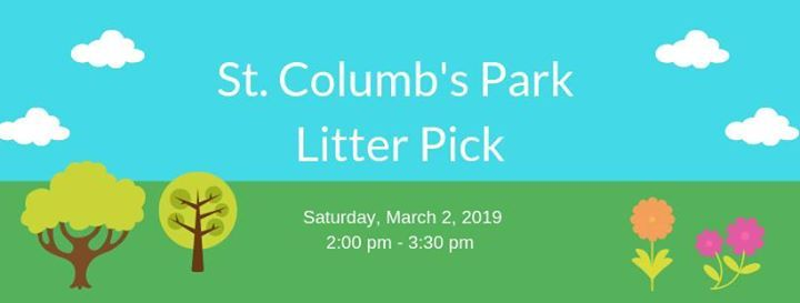St Columbs Park Litter Pick