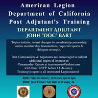American Legion Adjutants Training