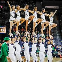 Cheer with the Notre Dame Cheerleaders