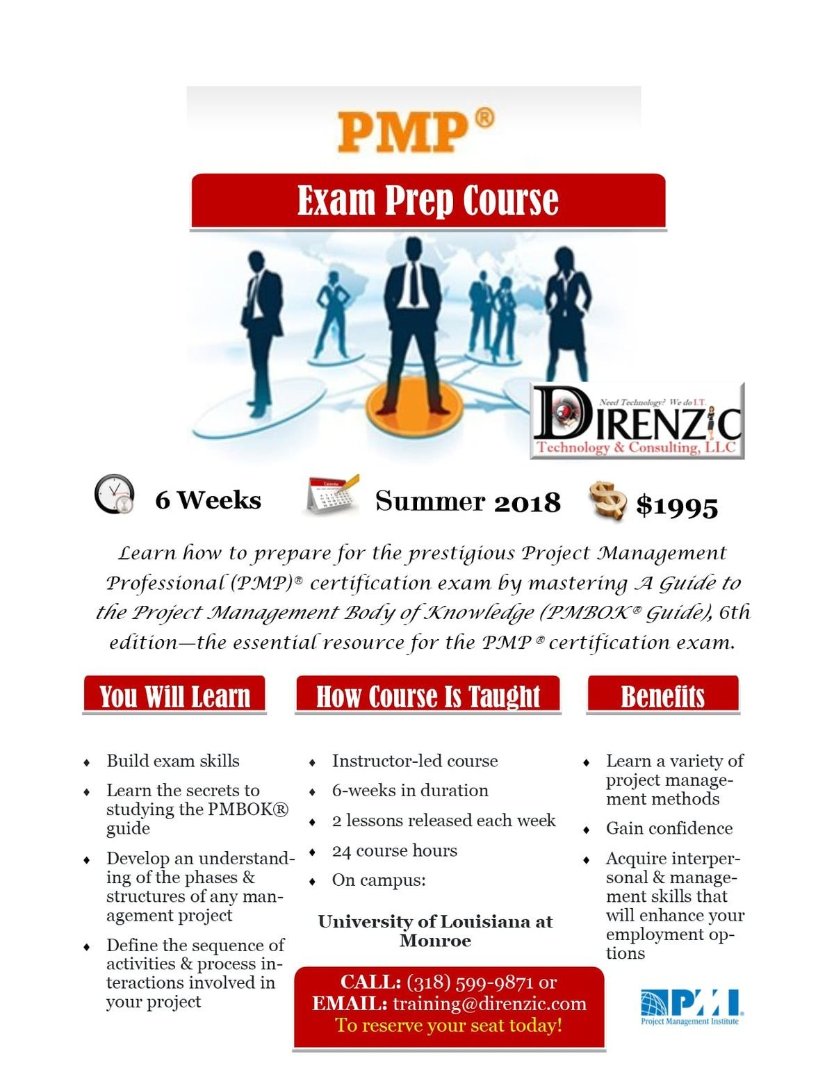Project Management Professional Pmp Exam Prep 6 Week Course At