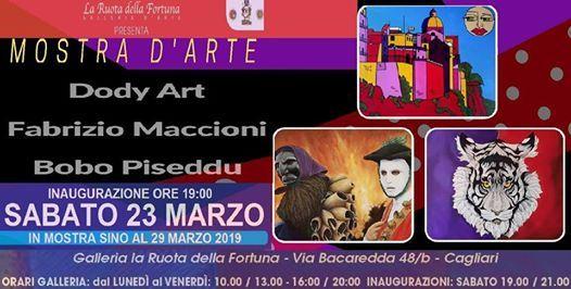 Mostra darte di Dody Art Fabrizio Maccioni e Bobo Piseddu