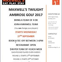 Maxwells Twilight Ambrose Golf