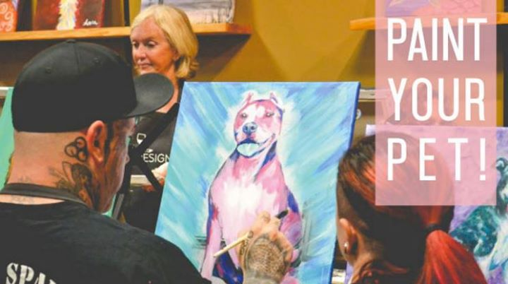 Paint Your Pet Fundraiser For Merit Pit Bull Foundation At Wine