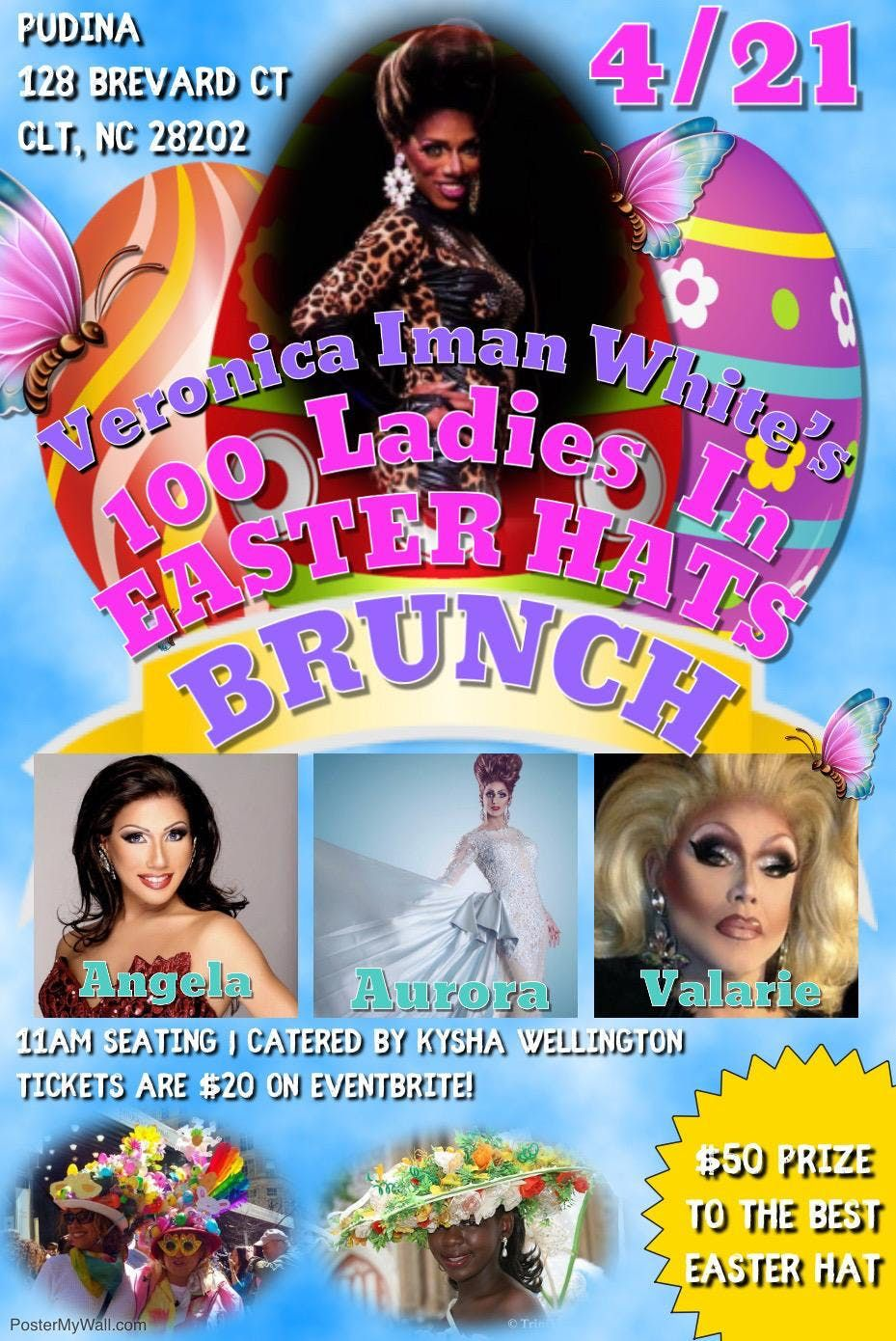 100 Ladies In Easter Hats Brunch with Veronica Iman White