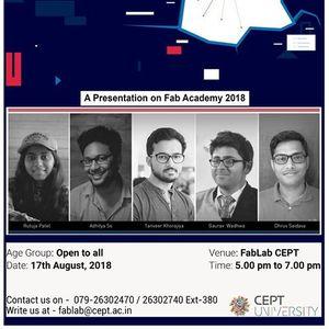 A presentation on Fab Academy 2018