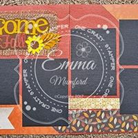 Welcome Fall Scrapbook Layout Class