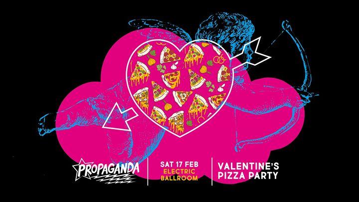 Propagandas Valentines Pizza Party