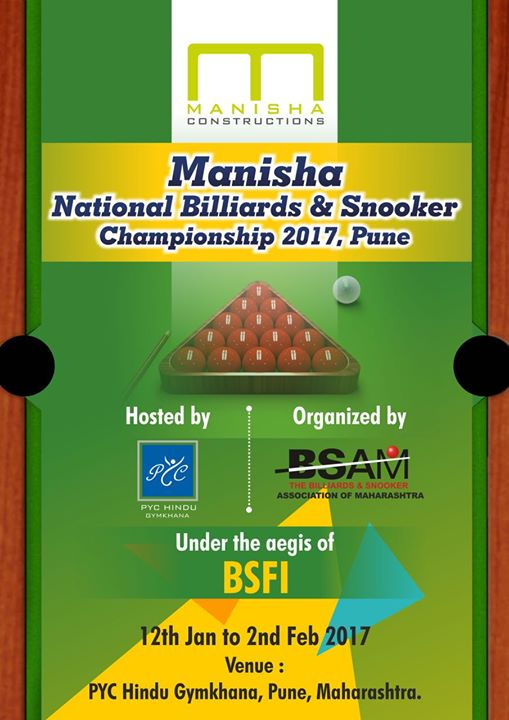 MANISHA National Billiards and Snooker Championship 2017