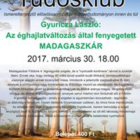 Tudsklub Az ghajlatvltozs ltal fenyegetett Madagaszkr