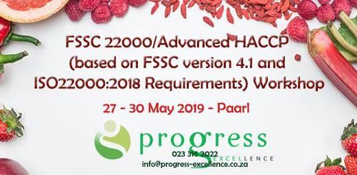 FSSC 22000/Advanced HACCP Workshop at Lemoenkloof Guesthouse, Paarl