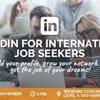 Seminar LinkedIn for International Job Seekers - Sydney
