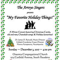 The Arroyo Singers Winter Concert 2017