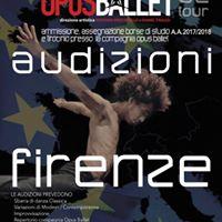Audizione Centro Opus Ballet (FIRENZE)
